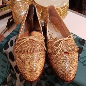 Giorgio Brutini men's snake skin loafers, men's